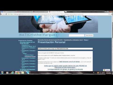 Presentación Personal Pagina Web