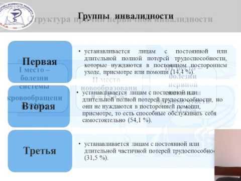 Лекция: «Врачебно-трудовая экспертиза».