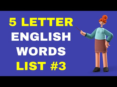 5 Letter Words in English A to Z List - PART 3