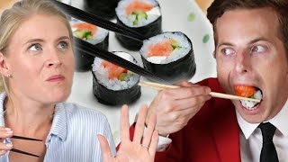 Couple Tries Home-Cooked Vs. $35 Sushi
