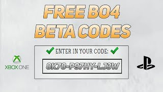 BO4 BETA CODES FOR FREE GLITCH! HOW TO GET A FREE COD BO4 BETA CODE! (XBOX/PS4/PC)