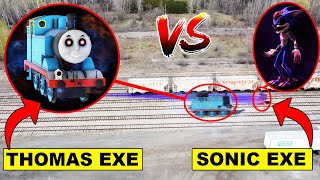 DRONE CATCHES THOMAS THE TANK AND RACING AT ABANDONED RAILROAD! (MUST WATCH)