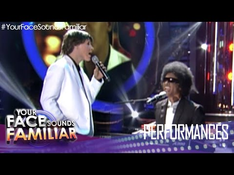 """Your Face Sounds Familiar: Kean Cipriano as Paul McCartney and Stevie Wonder - """"Ebony and Ivory"""""""
