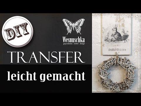 DIY : TRANSFER METHODE ohne SPEZIELLES ZUBEHÖR | HOW TO
