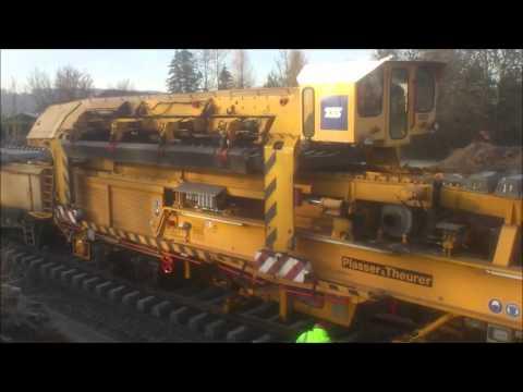 Stroje na rekonstrukci tratě v Libuni
