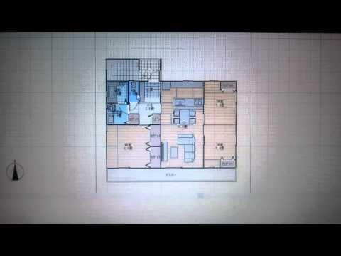52坪完全分離型の二世帯住宅の間取り