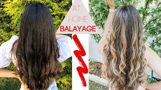 How To Balayage Your Hair At Home┃Balayage On Dark Hair Tutorial┃DIY Balayage Highlights From Home