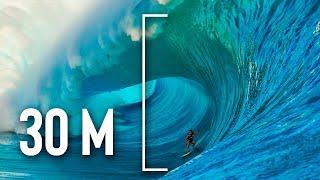 Nunca intentes surfear una ola de 30 metros