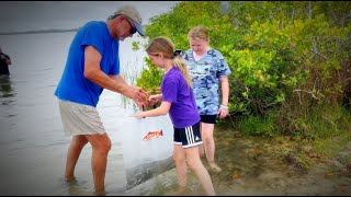 20,000 Spotted Sea Trout Released at Pine Island Park on Florida's Adventure Coast