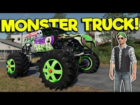 MONSTER TRUCK MOD RACE & POTATO FARM! – Farming Simulator 19 Gameplay – FS 19 Multiplayer