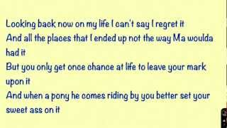Let it Go-Zac Brown Band (On Screen Lyrics)