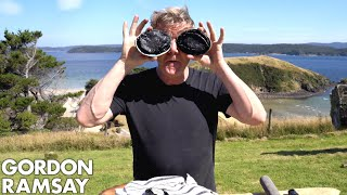 Gordon Ramsay Makes Abalone Scrambled Eggs In New Zealand | Scrambled
