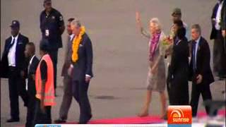 Royals arrival in PNG
