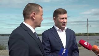 Губернатор Сергей Фургал проверил готовность Нанайского...