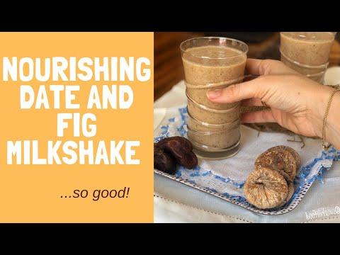 Nourishing date and fig milkshake
