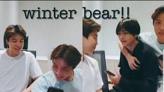 BTS Jimin And J Hope Singinglistening  To Winter Bear By V