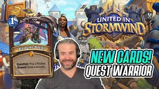 (Hearthstone) NEW CARDS! Quest Warrior: The Juggernaut - United in Stormwind