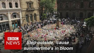 Why I sang Oasis  at Manchester silence  - BBC News