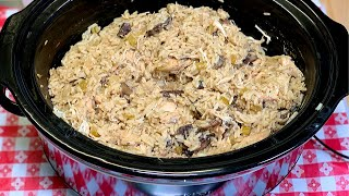SLOW COOKER CHICKEN & RICE | DUMP AND GO CROCK POT MEAL