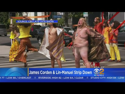 James Corden, Lin-Manuel Miranda Bare It all For 'Late Late Show'