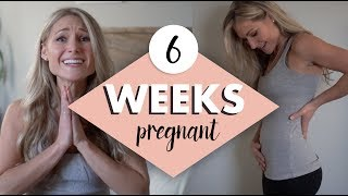 6 WEEKS PREGNANT - My Symptoms, Emotions and Belly Shot!