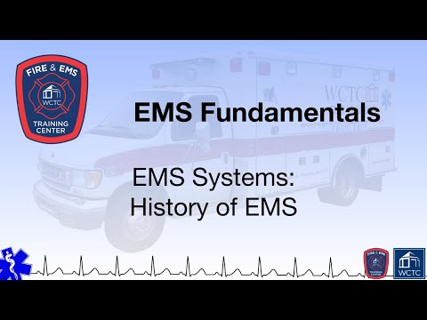 Paramedic 1.01 - EMS Systems: History of EMS