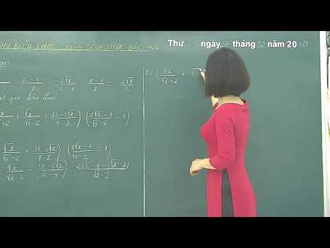 Môn Toán 9 - Rút gọn biểu thức chứa căn thức bậc hai - Gv Vũ Thị Hồng Nhung - Trường THCS Lưỡng Vượng