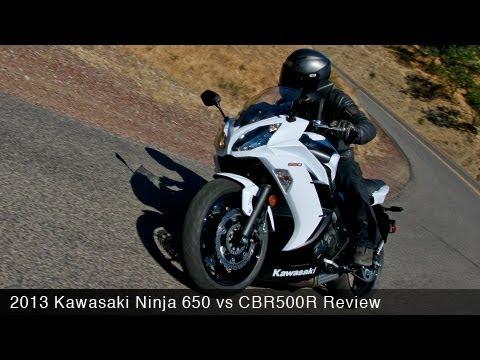 2013 Kawasaki Ninja 650 vs CBR500R Comparison - MotoUSA