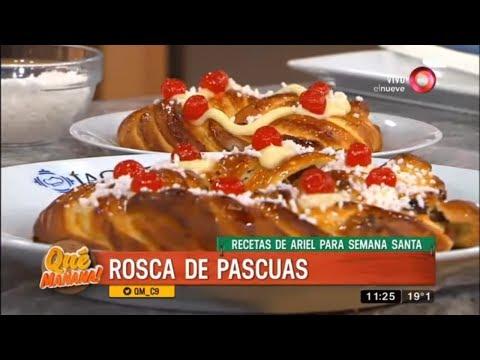 Receta de Ariel para Semana Santa: rosca de pascuas