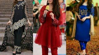 Stunning Collection Silk Organza & Chiffon Dresses 2019/Shiffon Net Party Dresses