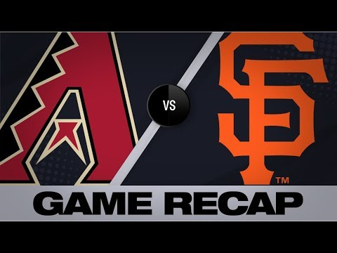 Pillar, Bumgarner lead Giants in 10-4 win | Giants-D-backs Game Highlights 6/30/19