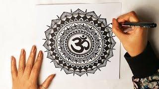 How To Draw Mandala Art -3 | HIPPIE ART | OM Symbol | Vijayta Sharma