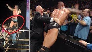 Top 10 Peleas REALES De Luchadores vs Fans   ataques de fans