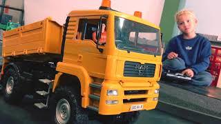 BRUDER Trucks, Baumaschinen mit RC Umbau in JACK's WORLD, Children Video!