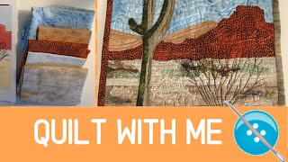 My First Landscape Quilt, A Mini Quilt Tutorial