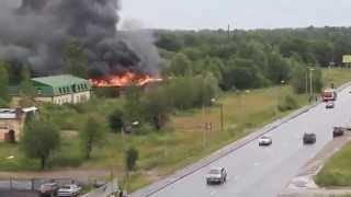 Пожар в Гатчине  (Аэродром) 07.07.2015