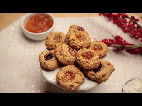 Jam Dot Holiday Cookies
