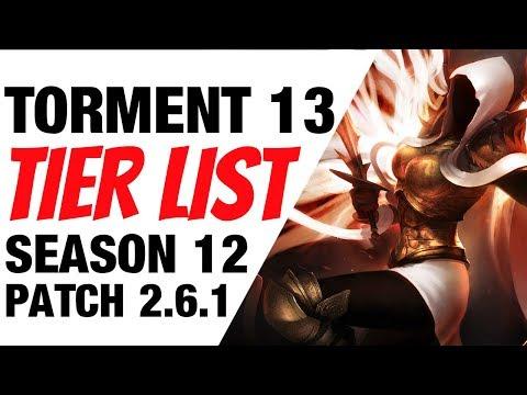 Diablo 3 Speed Tier List Season 12 Patch 2.6.1 T13 Builds