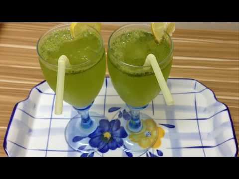 Mint margarita drink famous recipe /how to make mint margarita at home