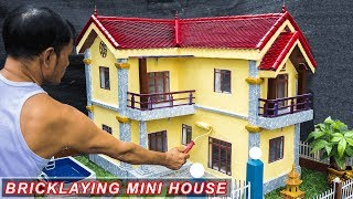 bricklaying-model-building-dream-mini-house-complete-building-part-4