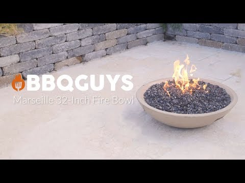 BBQGuys Marseille 32 Inch Fire Bowl-Cafe Blanco