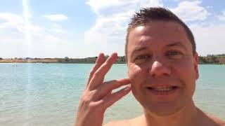 Едем купаться 😁 на Голубое озеро. Жара 40 градусов. Лето. Берег. Вода. Купаемся с Галюсей 👌