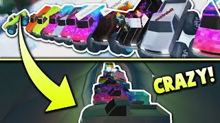 JAILBREAK TRAIN VS. 20 MONSTER TRUCKS! | TRAIN VS TAC #2 | Roblox
