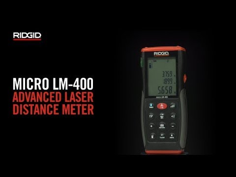 RIDGID micro LM-400 Advanced Laser Distance Meter