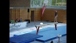 preview picture of video 'Elena Casado - Spanien - Balken Länderkammpf Haar 12.04.2014'