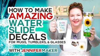 Make Amazing Waterslide Decals For Tumblers, Mugs, And Glasses!