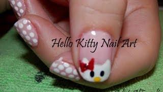 Tutorial: Diseño de Uñas de Hello Kitty Paso a Paso - Hello Kitty Nail Art