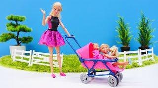РАСПАКОВКА: двухместная коляска Барби! Игры с Барби и Челси