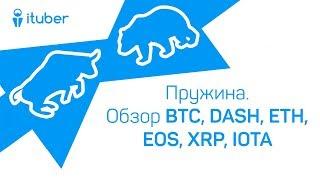 Пружина. Обзор BitCoin (BTC), Dash (DASH), Ethereum (ETH), EOS, Ripple (XRP), IOTA (MIOTA)