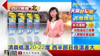 氣象時間 1051112 晚間氣象 東森新聞HD